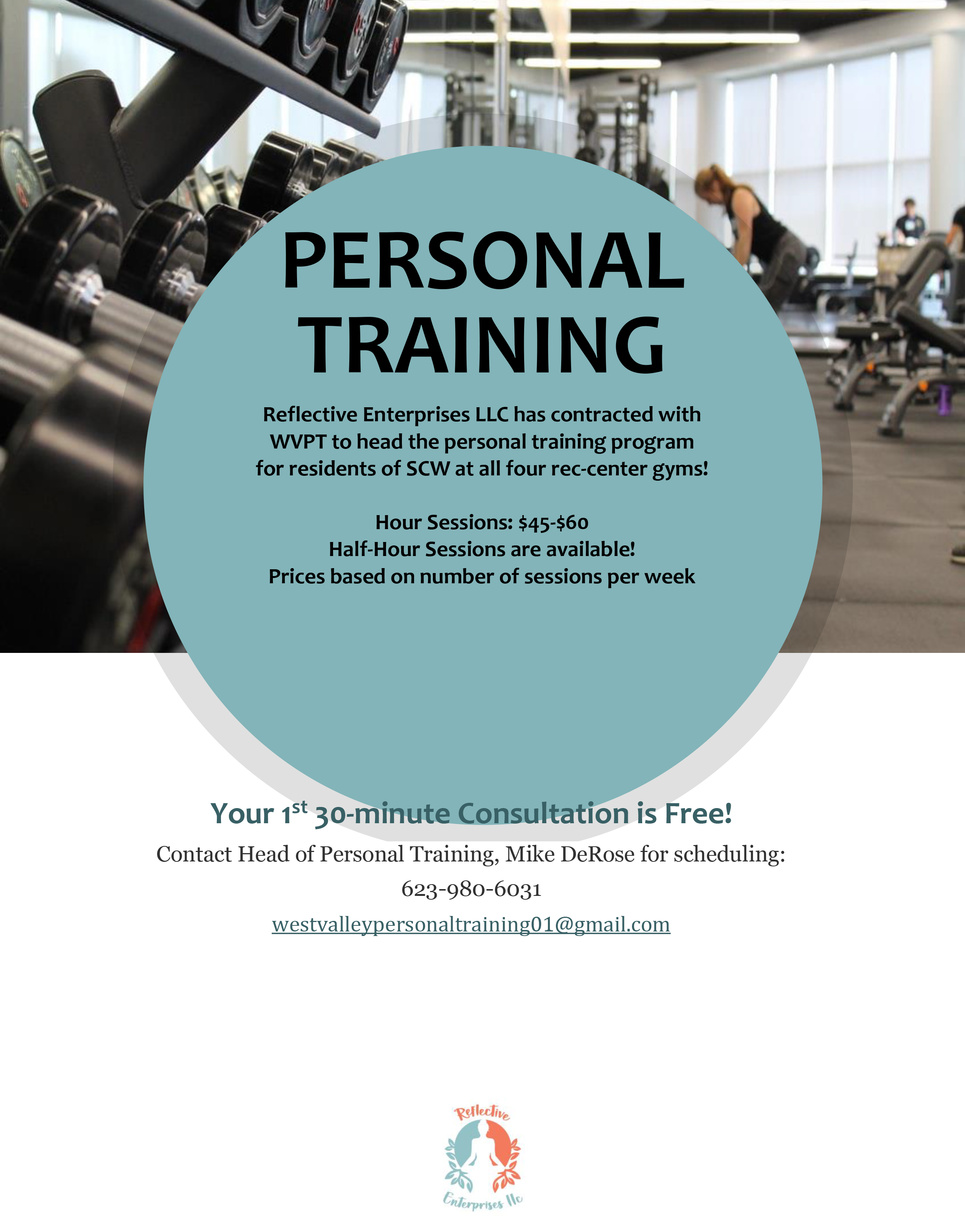 Personal Training Services at Sun City West Jan 2020