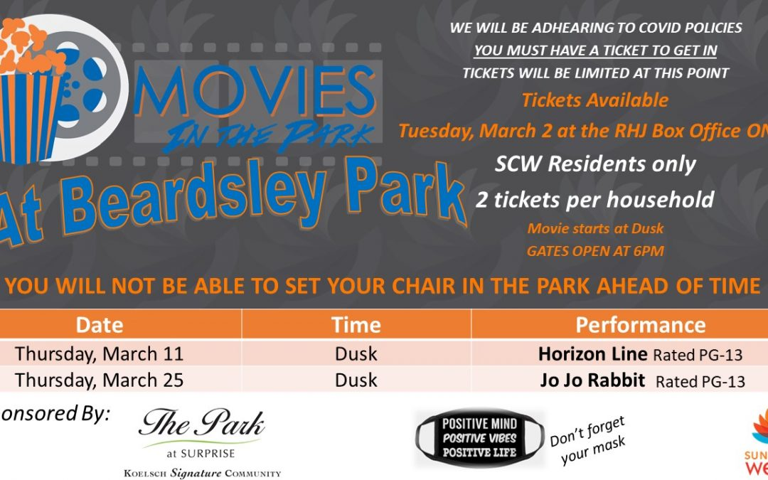 March movies return to Beardsley Park