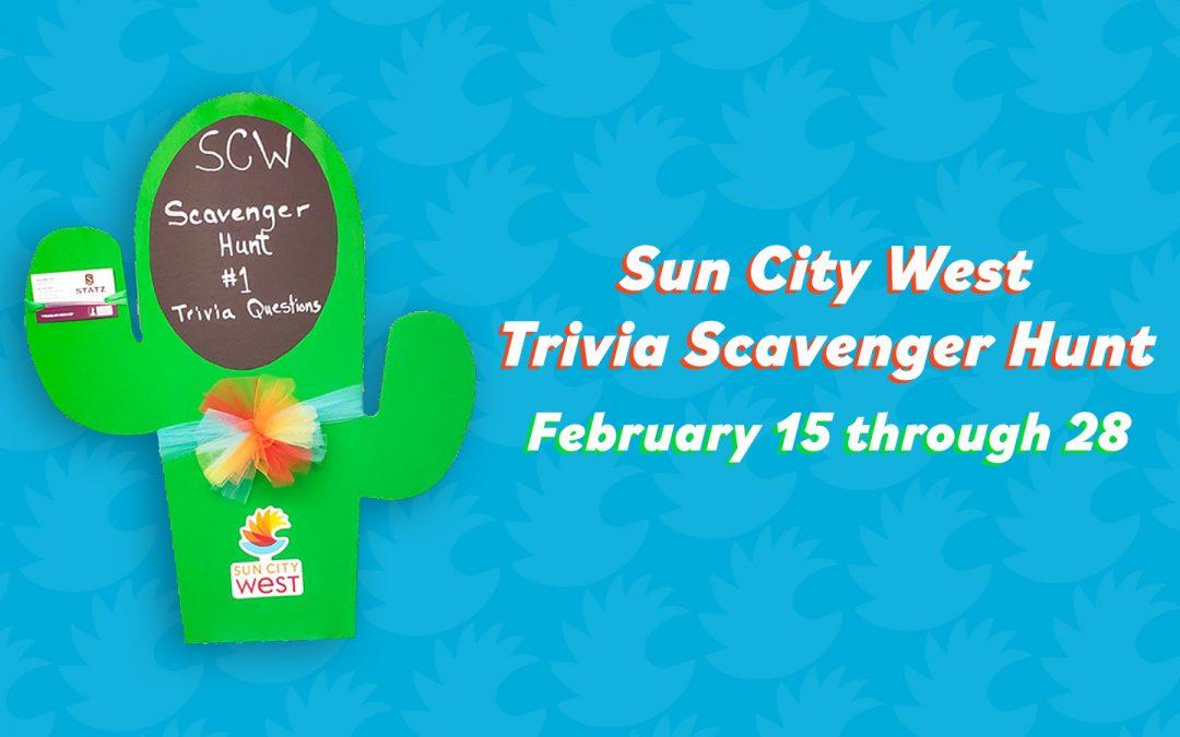 February Sun City West scavenger hunt