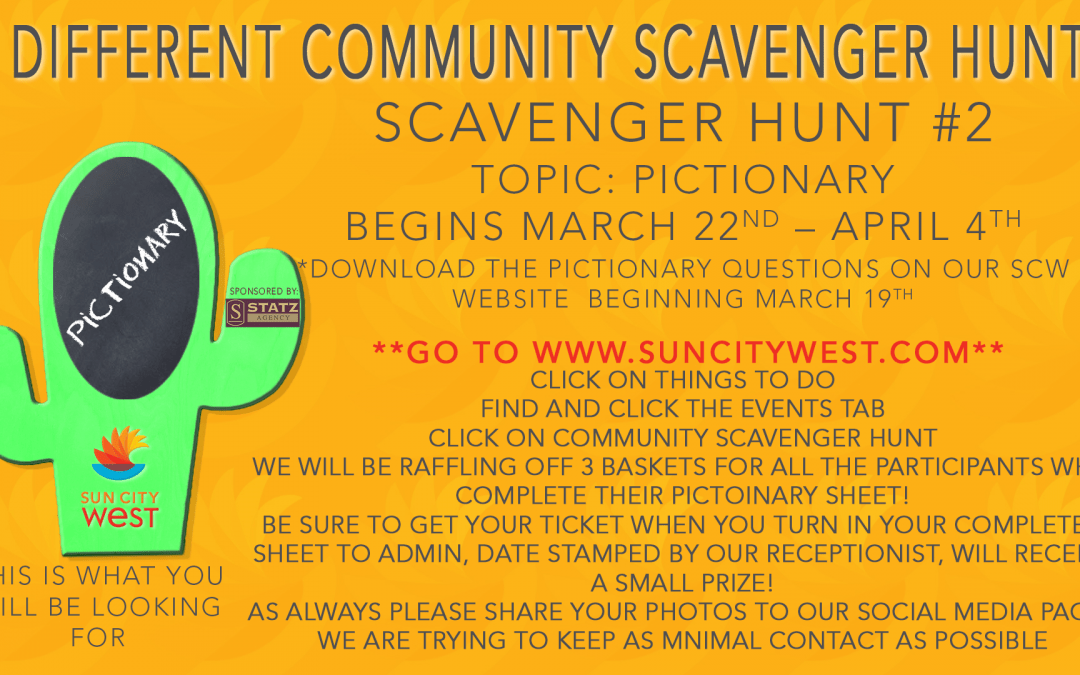 March RCSCW Scavenger Hunt: Pictionary