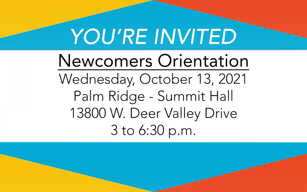Newcomers Orientation returns this October